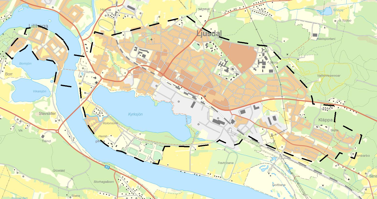ljusdal karta Snöröjning   Ljusdals kommun ljusdal karta
