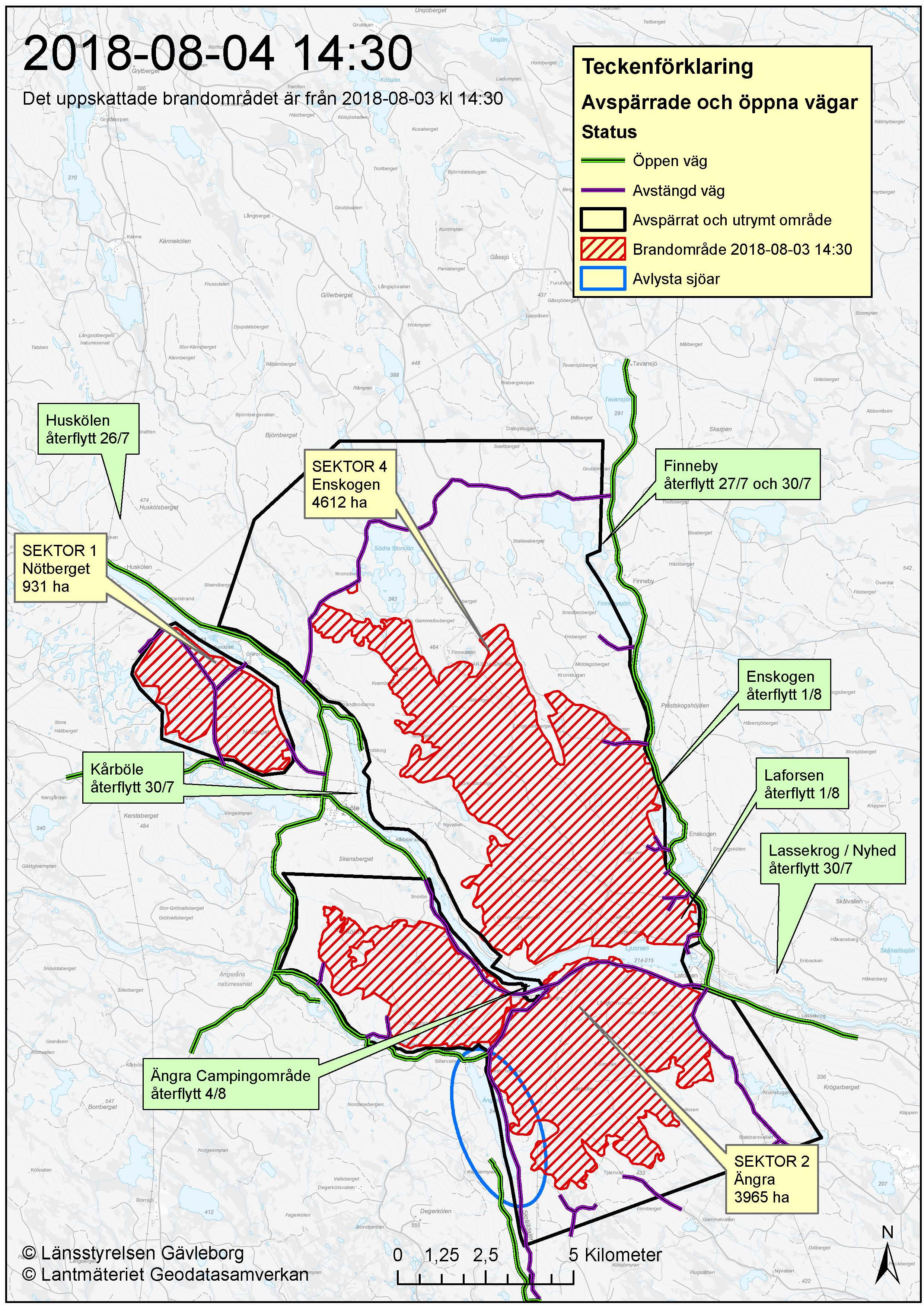 Kartor Lagesbilder Under Branderna Ljusdals Kommun